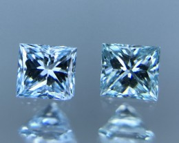 0.15 CT BLUE DAIMONDS PAIR WITH SPARKLING LUSTER DAIMONDS