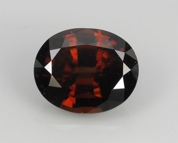 CERTIFIED 4.86 CT-WONDERFULL SPARKLING NATURAL  BROWN-COLOR~ NATURAL ZIRCON