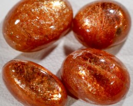 20.75 CTS FIERY CABOCHON SUNSTONE FROM TANZANIA [STS1097]