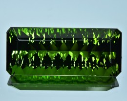 43.20 Cts Superb Attractive Special Cut Natural Green Tourmaline