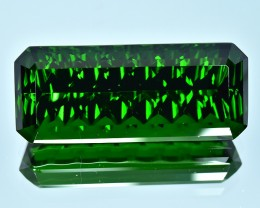 37.50 Cts Wonderful Special Cut Natural Green Tourmaline