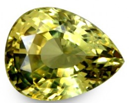 5.28 ct Natural Intense Beautiful Chrysoberyl Pear Shape Srilanka