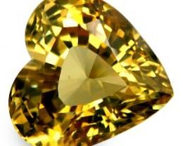 6.90 ct Natural Intense Beautiful Chrysoberyl Heart Shape From Srilanka