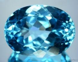 MESMERISING  SWISS BLUE TOPAZ - 50.30cts ~ VVS ~ BRAZILS FINEST BY FAR