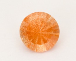 1.85ct Peach Round Concave Sunstone (S2530)