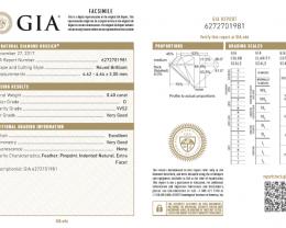 0.4ct GIA certified D-VVS2 White Diamond