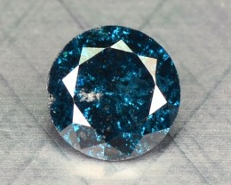 0.13 Cts Natural Blue Diamond Round Africa