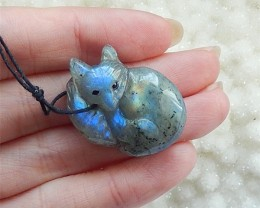 48ct New Fashion Blue Light Labradorite Carved lowrie Pendant(18031001)