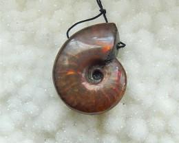 76ct Natural Semiprecious Gemstone Ammonite Colorful pendant Cabochon(18031