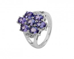 Tanzanite 925 Sterling silver ring #491