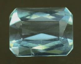 3.45 cts Emerald Cut Untreated Aquamrine Gemstone From Pakistan
