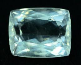 7.10  cts Untreated Princess Cut Aquamarine Gemstone from Pakistan