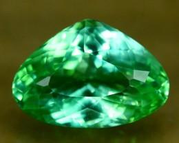 13.10 ct Curved Trillion Cut Spodumene Gemstone From Afghanistan