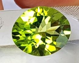 3.08cts, Peridot,  Untreated, Pure Green, Calibrated