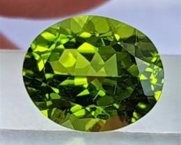 4.48cts, Peridot,  Untreated, Pure Green, Calibrated