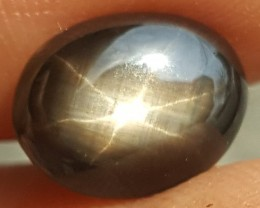 4.67cts, Star Sapphire,   Unheated,  Untreated,  Black Star