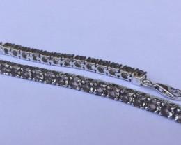 Smokey quartz 925 Sterling silver ring #33074