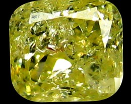 NR 0.18cts  PGTL Certified FANCY LIGHT YELLOW Natural Diamond