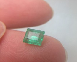 (B4) Brilliant  All Natural 0.79ct Colombian Emerald Untreated