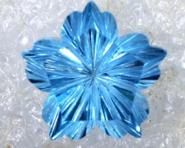 2.1CTS SWISS BLUE TOPAZ   CARVING  TBG-2910