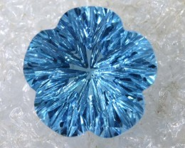 2.5CTS SWISS BLUE TOPAZ   CARVING  TBG-2911