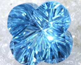 2.3CTS SWISS BLUE TOPAZ   CARVING  TBG-2912