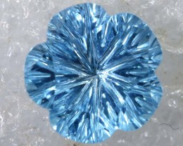 2.45CTS SWISS BLUE TOPAZ   CARVING  TBG-2913