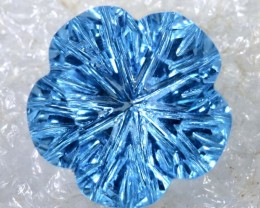 2.55CTS SWISS BLUE TOPAZ   CARVING  TBG-2915