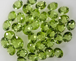 4.55 CTS 3 MM ROUND CUT PERIDOT  GEMS [STS1114]