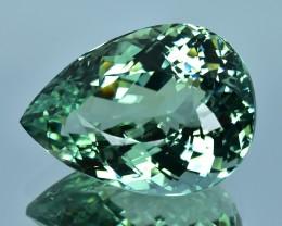 27.02 Cts Stunning Beautiful Natural Green Tourmaline Pear Shape