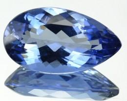 4.63 Cts Natural Deep Blue Maxixe Beryl Pear Cut Brazil Gem