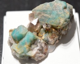 Amazonite and smocky quartz - 14,6 grams - Lake George, Park Co., Colorado,