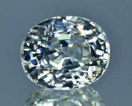 10.10 Cts Beautiful Sparkling Lustrous Natural White Zircon