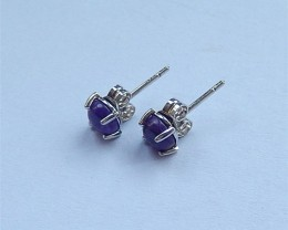 4ct Women Earrings,6ct Natural Sugilite With Sterling 925 Silver Earring St