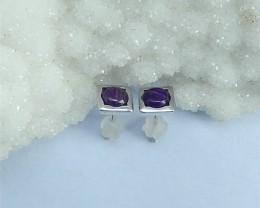 6ct  Women Earrings,6ct Natural Sugilite With Sterling 925 Silver Earring S