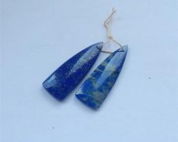 42ct Natural Lapis Lazuli Drilled Earring Beads (18031309)