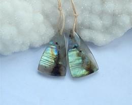 26.5Natural Shining Labradorite Triangle Earring Beads(18031311)