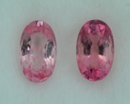 0.571 Cts Beautiful  Pink Tourmaline Oval Pair