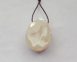 145ct Natural Gobi Agate Pendant  (18031430)