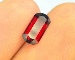 1.65 ct Natural Laser Cut Red Rhodolite Garnet