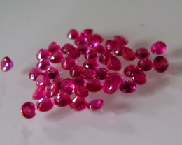 NATURAL RUBY MOZAMBIQUE PAIR BLOOD RED 3mm