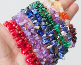 10 Beautiful Mixed Gemstone Bracelets SU667
