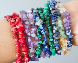 10 Beautiful Mixed Gemstone Bracelets SU670