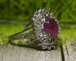 27.95 CT Natural Ruby With Beautiful Ring