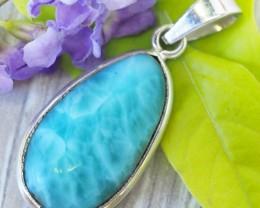 Beautiful natural Pendant , Larimar from Caribbean SU685