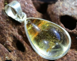 Beautiful natural Cabochon Citrine Pendant SU1003