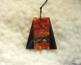56.5Ct  Multi-Color Picasso jasper  And  Obsidian   Pendant(18031551)