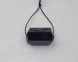 62ct Natural Black Drilled Tourmaline Pendant (18031561)