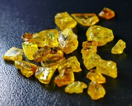 79 ct Natural - Unheated Golden Yellow Sphene Rough Lot