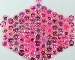 25.03 Cts Magnificent Tanzanian 4 mm Round Pink Spinel Parcel